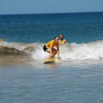 My first time surfing in Tamarindo, Costa Rica.